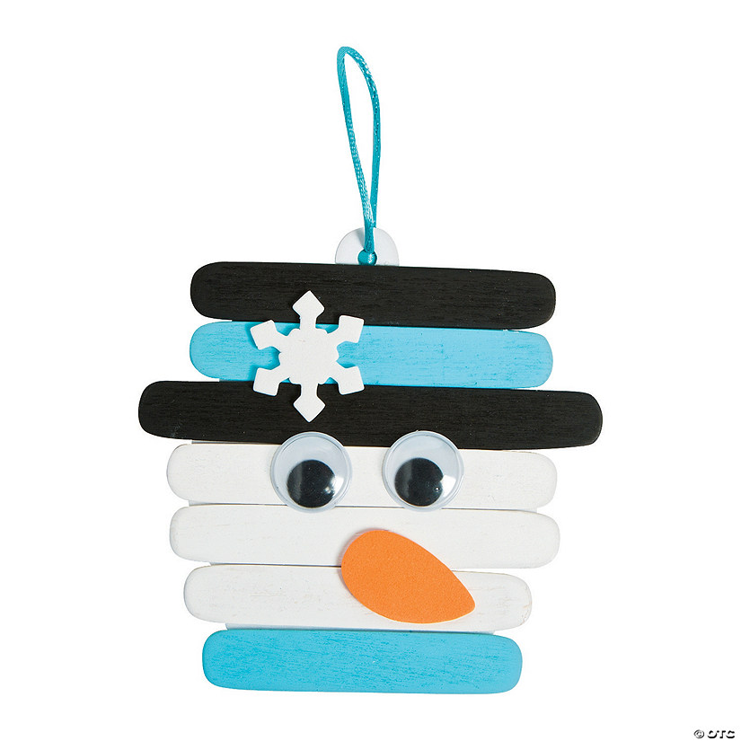 Snowman Craft Stick Ornament Craft Kit Audio Thumbnail