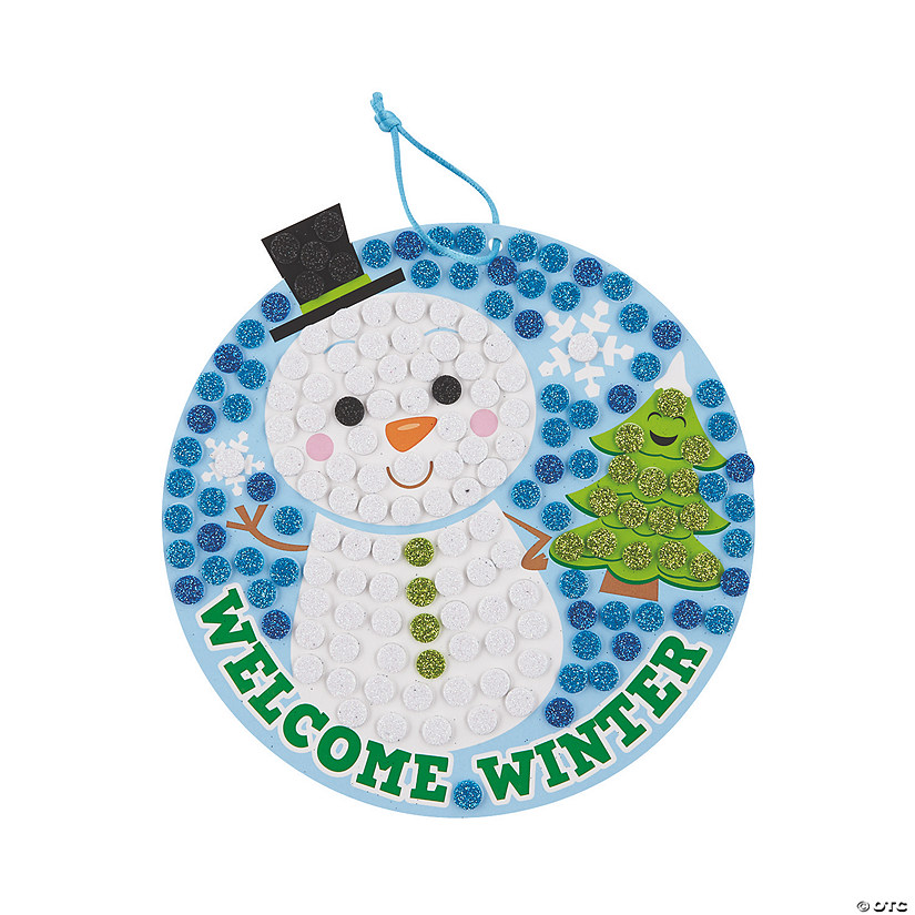 Snowman Glitter Mosaic Sign Craft Kit Audio Thumbnail
