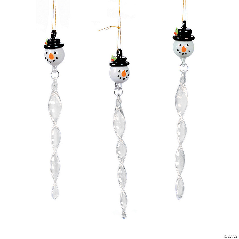 snowman icicle christmas ornaments - Icicle Christmas Decorations
