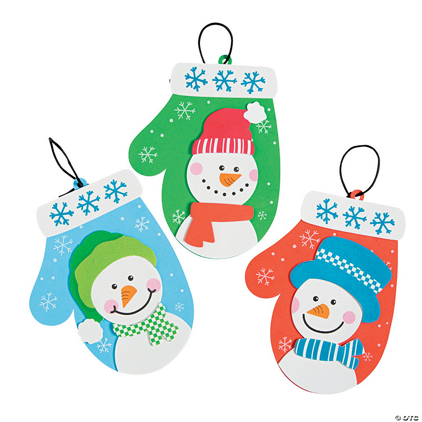 Snowman Mitten Christmas Ornament Craft Kit Audio Thumbnail