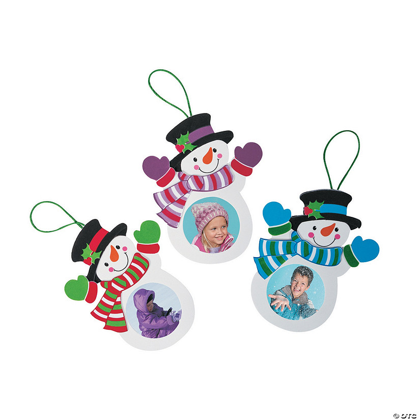 Snowman Picture Frame Ornament Craft Kit Audio Thumbnail