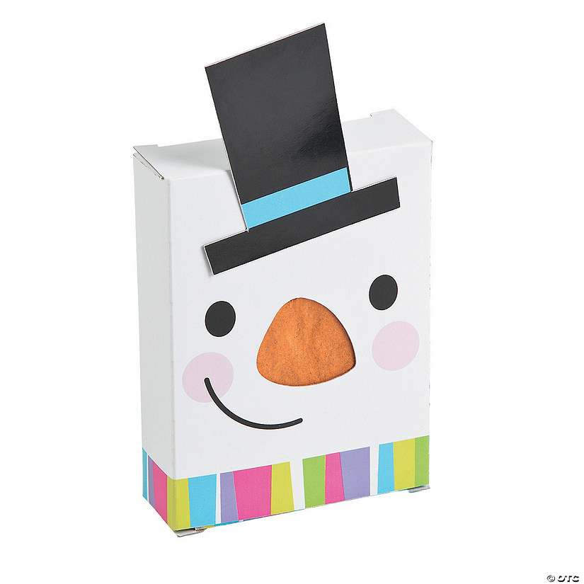 Snowman Poke Out Favor Boxes