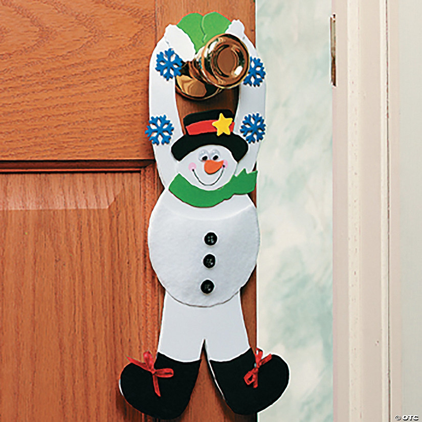 Snowman Pouch Doorknob Hanger Craft Kit Audio Thumbnail
