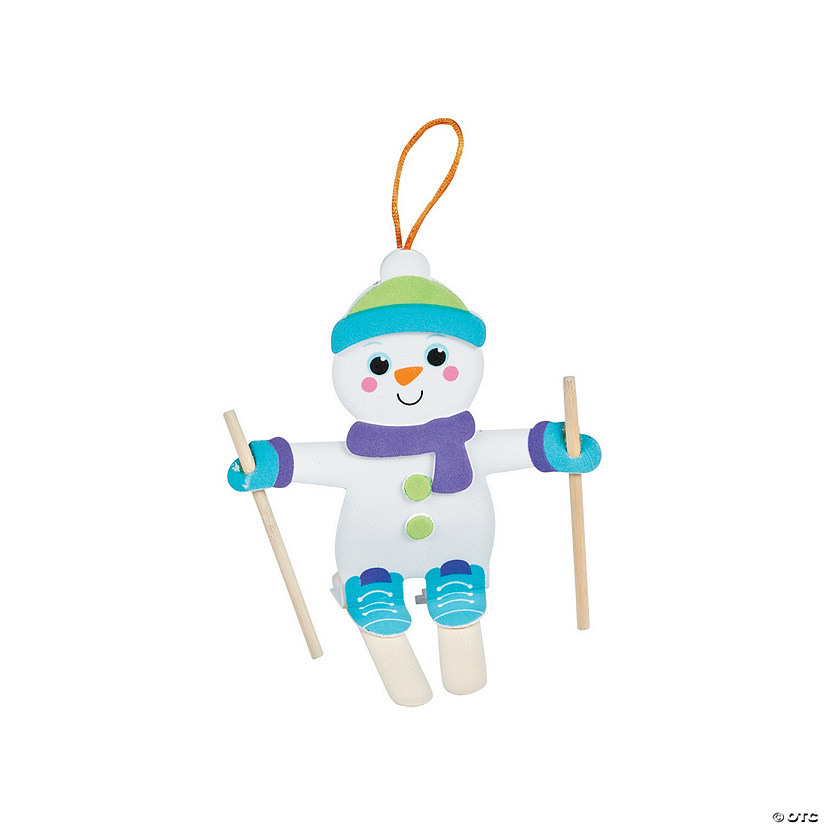 Snowman Skier Craft Stick Ornament Craft Kit Audio Thumbnail