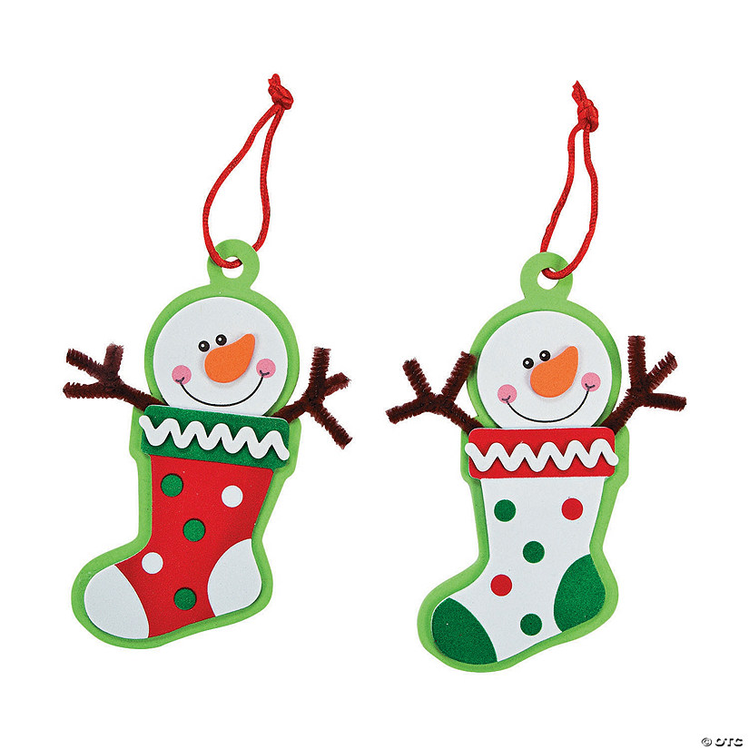 Snowman Stocking Christmas Ornament Craft Kit Audio Thumbnail