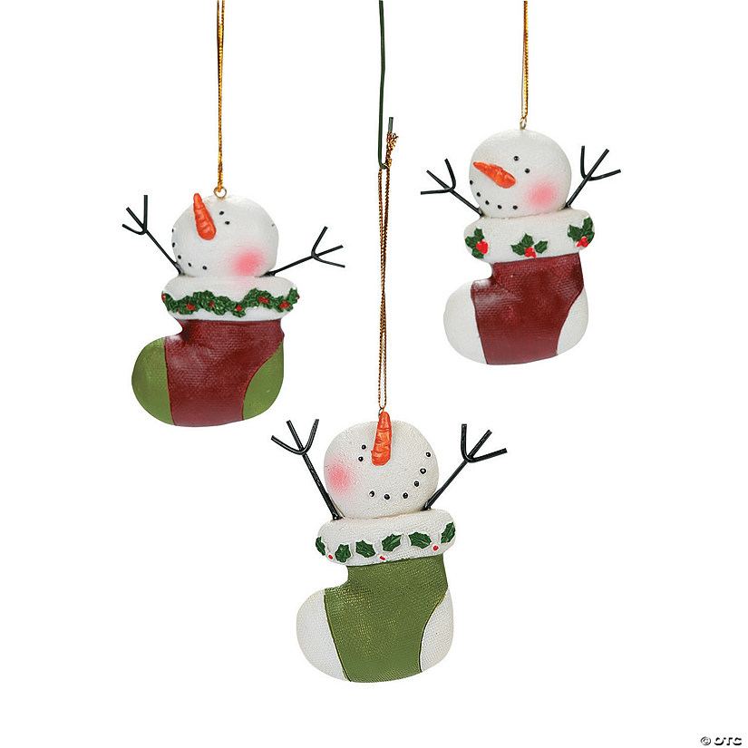 Snowman Stocking Christmas Ornaments Audio Thumbnail