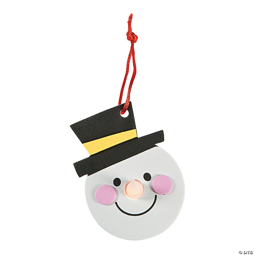 Snowman Tea Light Ornament Craft Kit