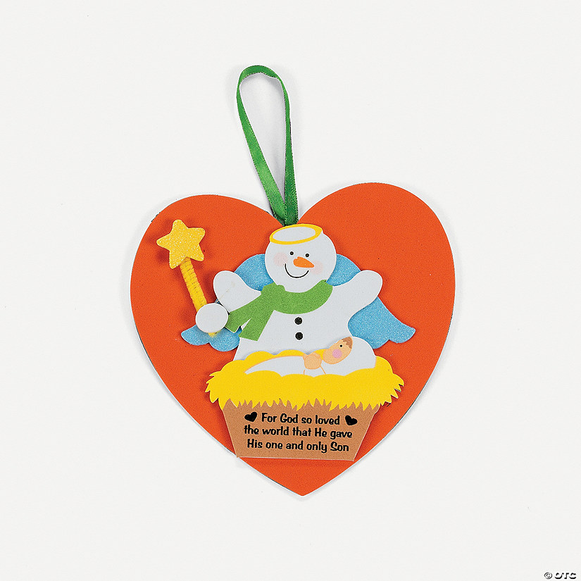 Snowman With Baby Jesus Ornament Craft Kit Discontinued