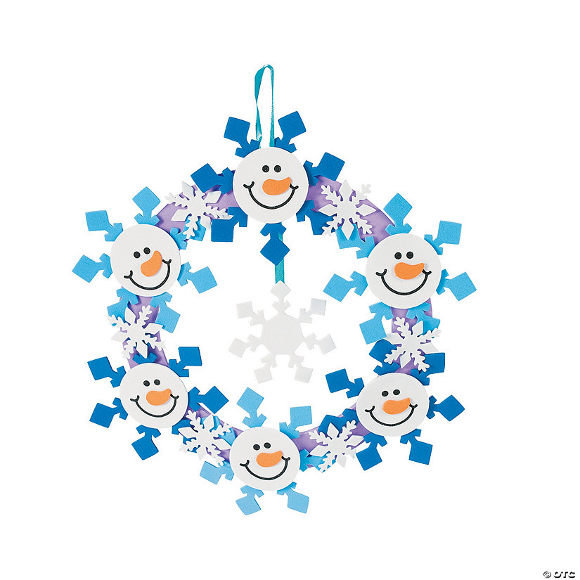 Snowmen Wreath Craft Kit Image Thumbnail