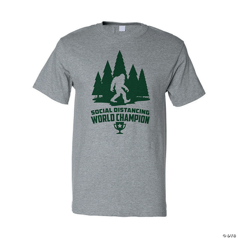 Social Distancing World Champion Sasquatch Adult's T-Shirt Image Thumbnail
