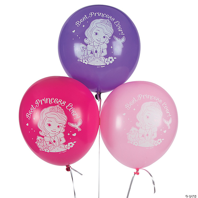 "Sofia the First 12"" Latex Balloons Image Thumbnail"