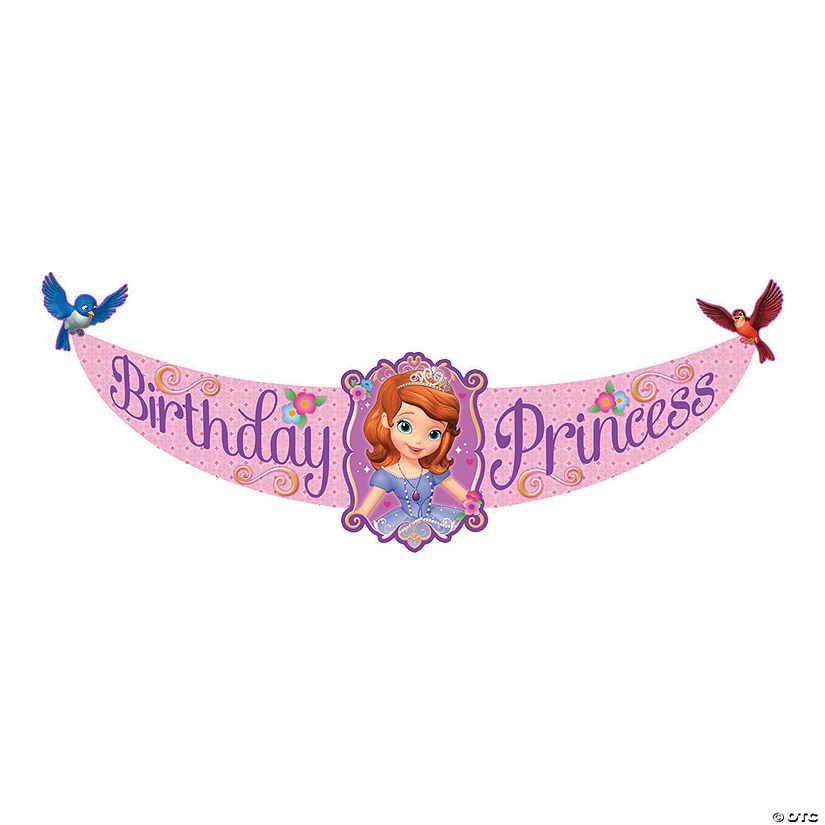 Sofia The First Birthday Paper Banner