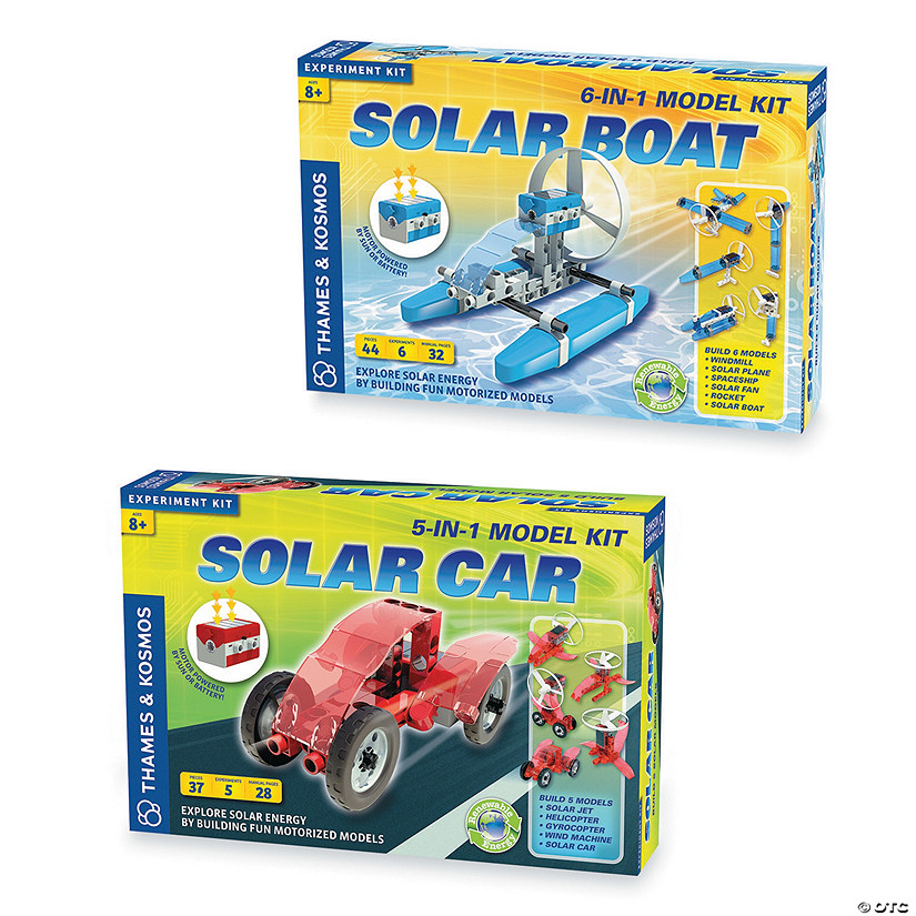 Solar Electric Vehicles Set of 2
