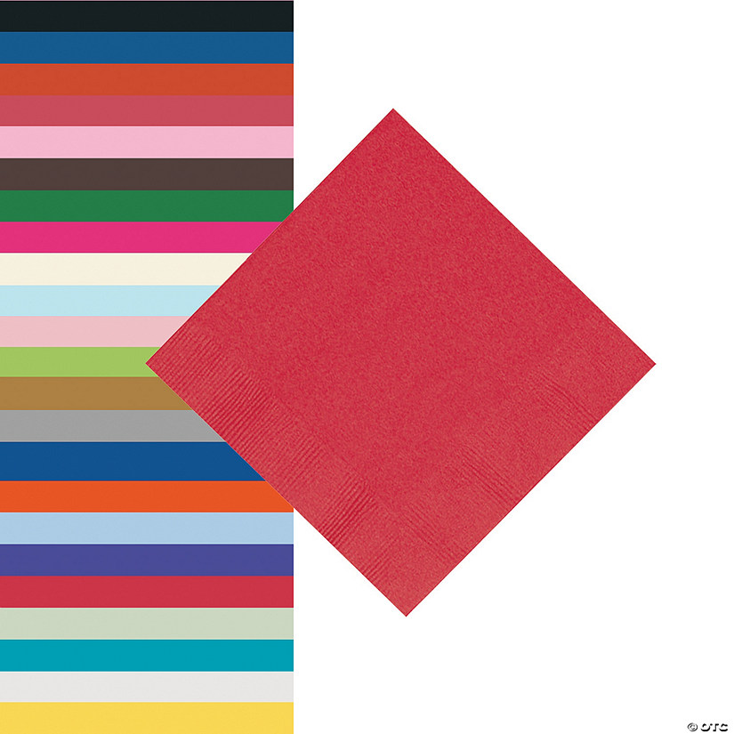Solid Color Beverage Napkins