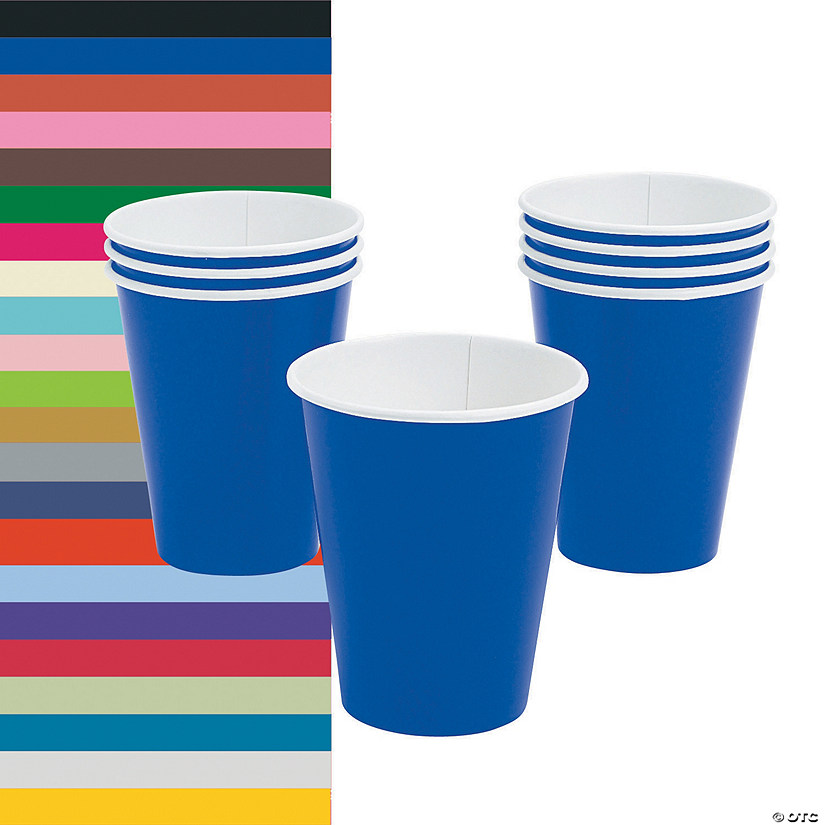 Solid Color Paper Cups - 24 Ct.