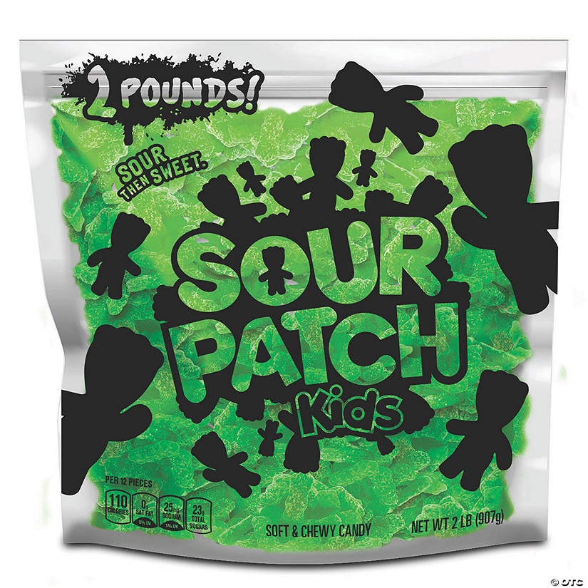 SOUR PATCH KIDS Lime Soft & Chewy Candy, Just Green (2 Lb. Party Size Bag) Image Thumbnail