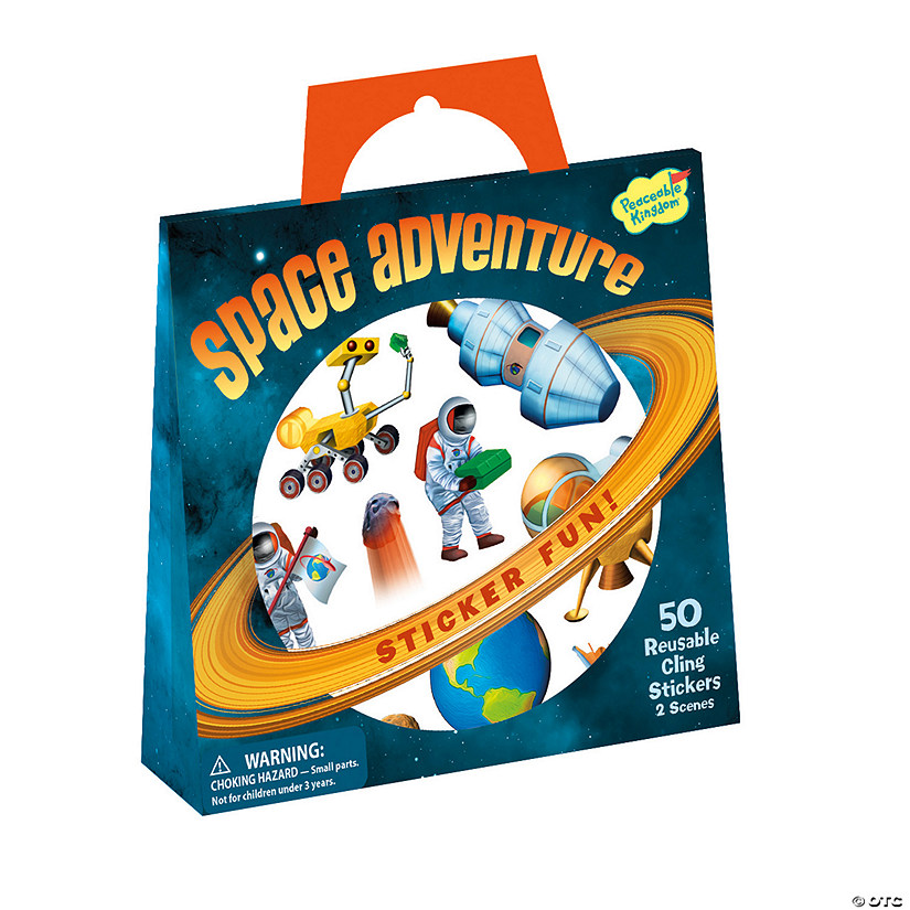 Space Adventure Reusable Sticker Tote Image Thumbnail
