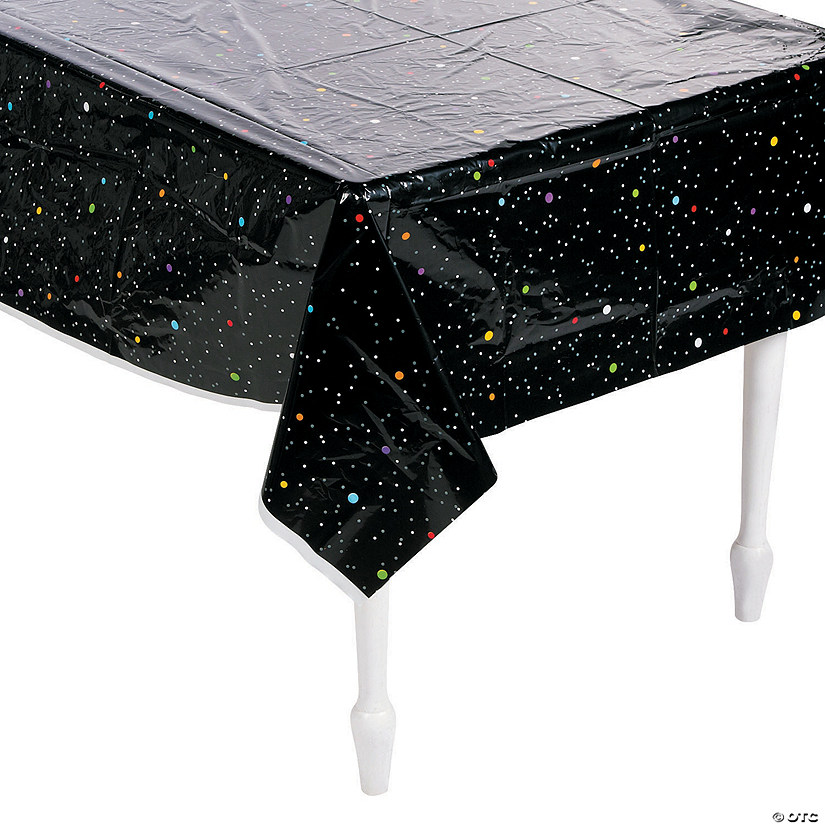 Space Party Stars Plastic Tablecloth