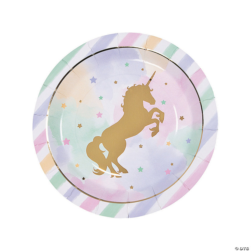 Sparkle Unicorn Round Paper Dinner Plates