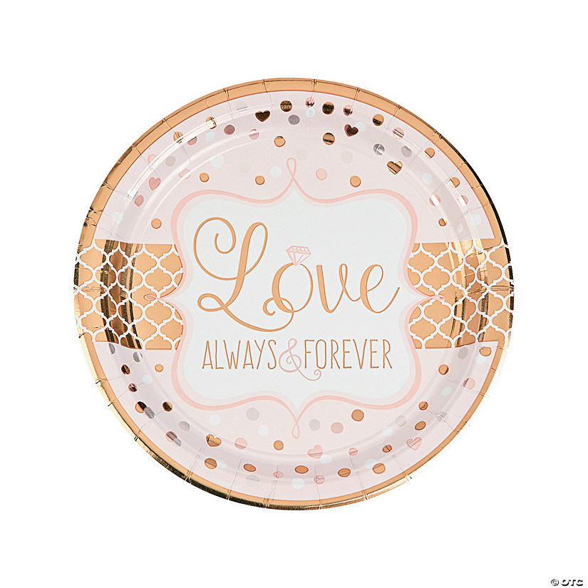 Sparkling Wedding Metallic Paper Dinner Plates