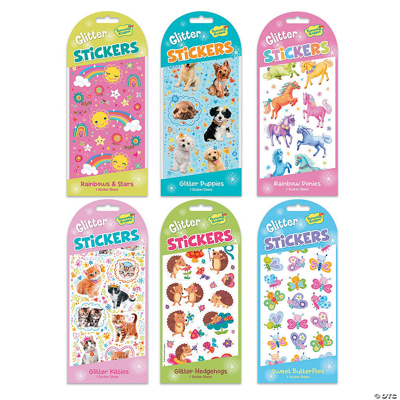 Sparkly Glitter Sticker Set Image Thumbnail