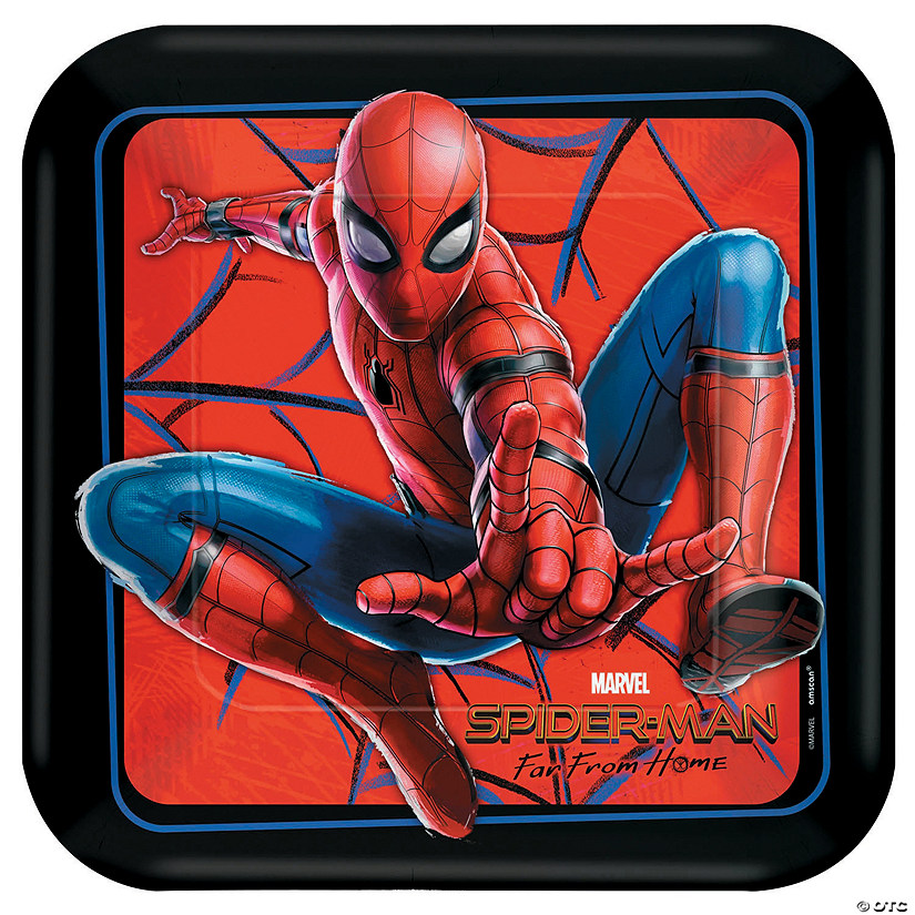 Spider-Man: Far From Home™ Square Paper Dinner Plates - 8 Ct. Audio Thumbnail