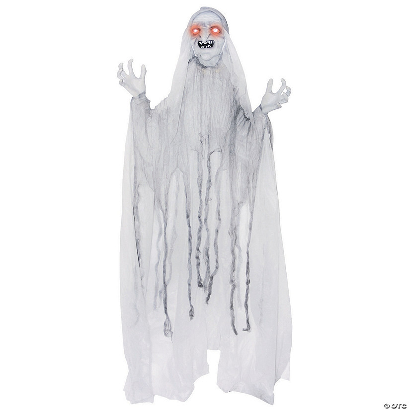 Spinning White Witch Halloween Décor