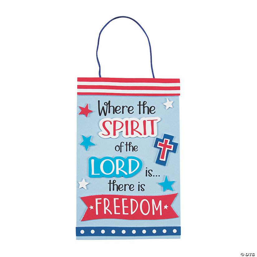 Spirit of the Lord Patriotic Sign Craft Kit Audio Thumbnail