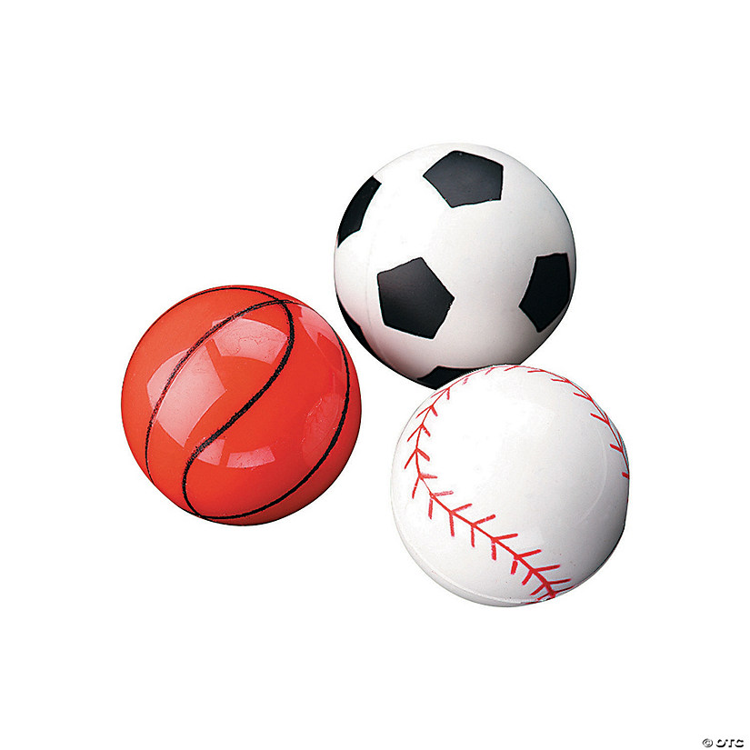 Sports Balls Bouncy Ball Assortment Image Thumbnail