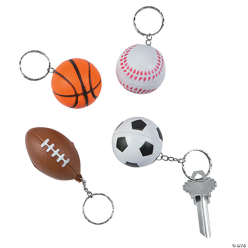 Sports Squeeze Ball Keychains