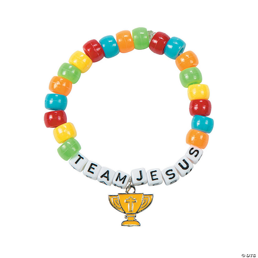 Sports VBS Beaded Bracelet Craft Kit