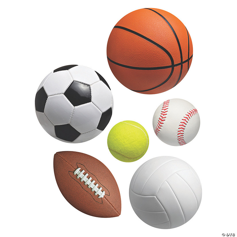 Sports VBS Large Ball Cutouts