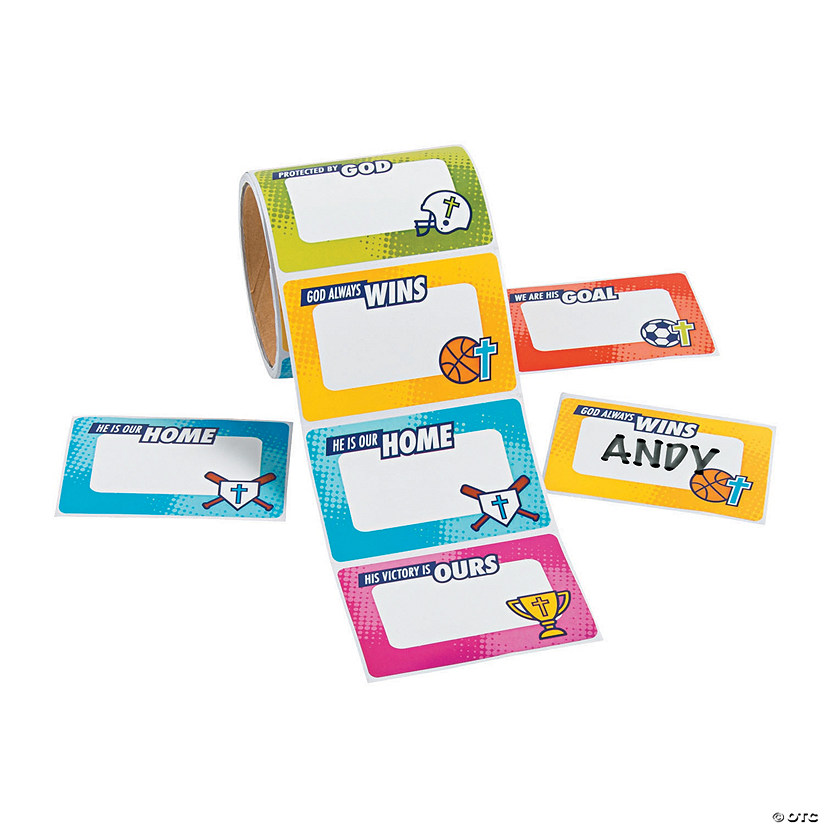 Sports VBS Name Tags/Labels Audio Thumbnail