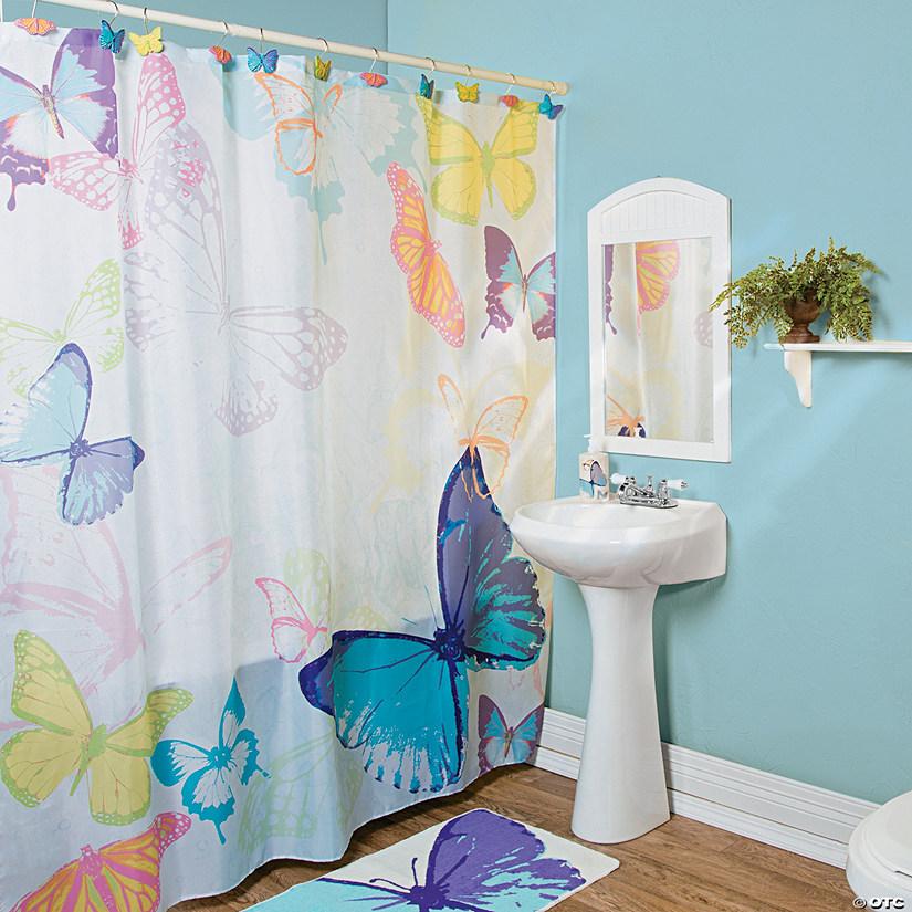 Spring Butterflies Shower Curtain