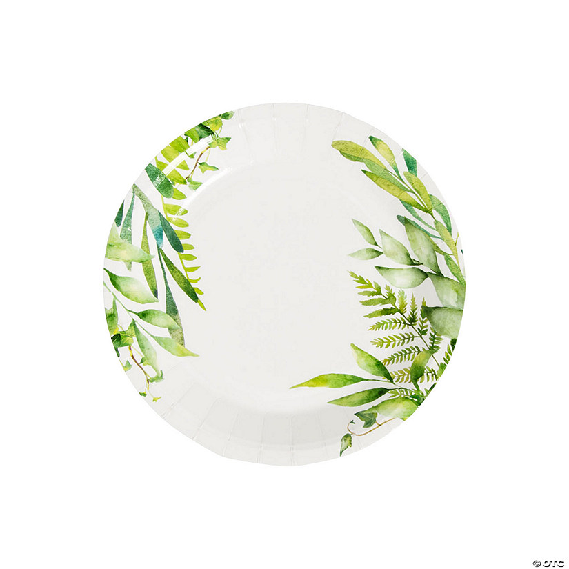 Spring Greenery Paper Dessert Plates - 8 Ct. Audio Thumbnail