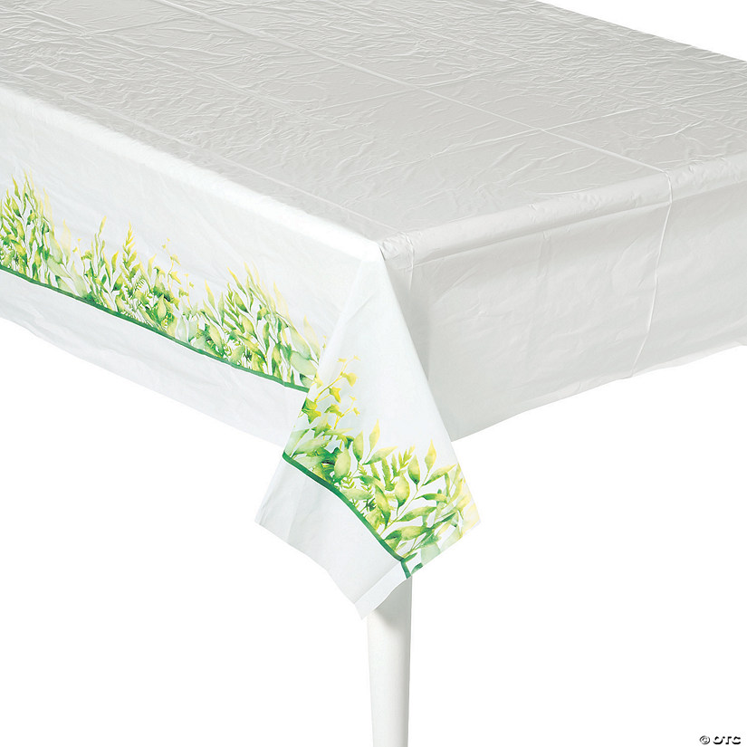 Spring Greenery Plastic Tablecloth Audio Thumbnail