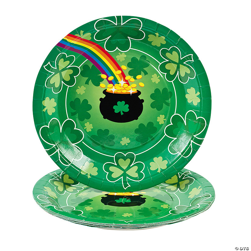 St. Pat's Rainbow Paper Dinner Plates - 8 Ct. Image Thumbnail