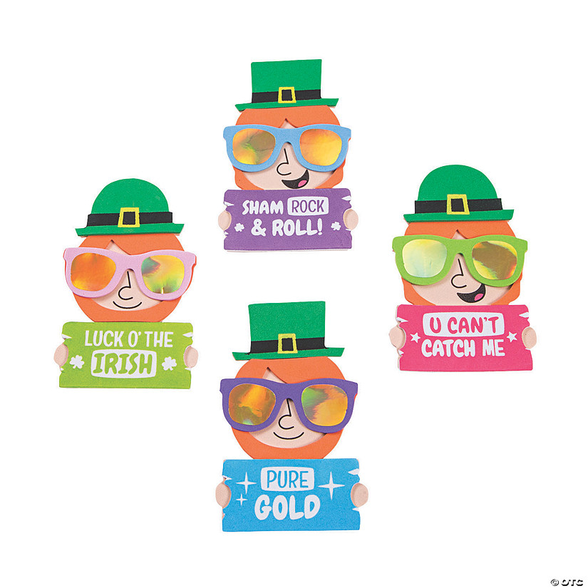 St. Patrick's Day Cool Leprechaun Magnet Craft Kit Image Thumbnail