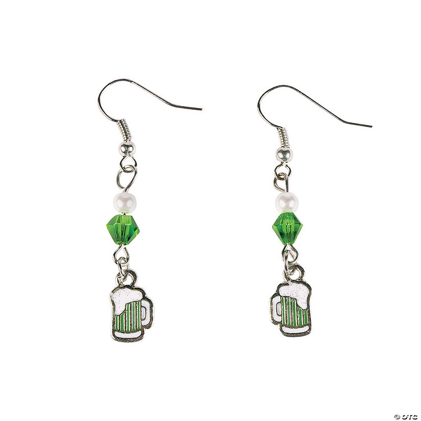 St. Patrick's Day Green Beer Earring Craft Kit Image Thumbnail