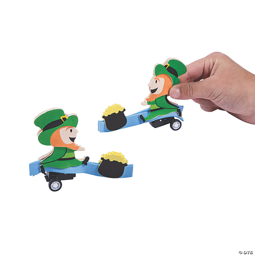 St. Patrick's Day Leprechaun Pull-Back Craft Kit Image Thumbnail