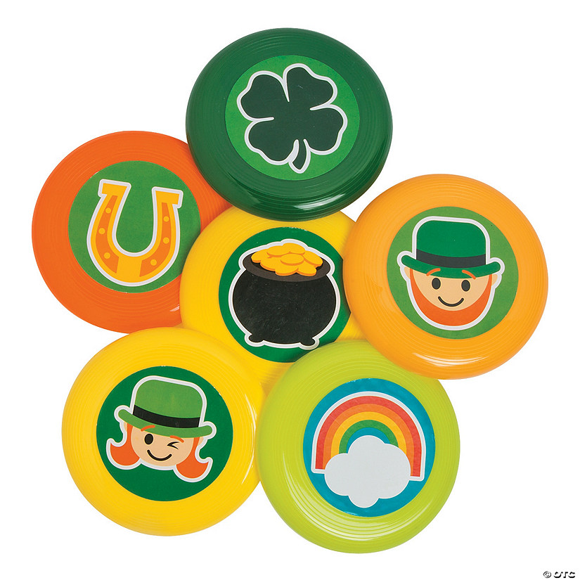 St. Patrick's Day Mini Flying Discs Image Thumbnail