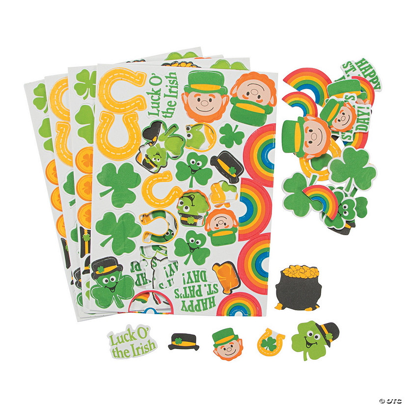 St. Patrick's Day Self-Adhesive Shapes Image Thumbnail
