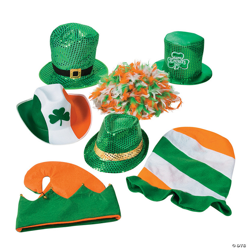 St. Patrick's Day Novelty Hat Assortment Image Thumbnail