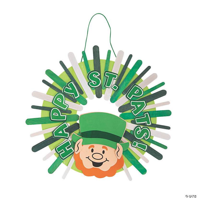 St. Patrick's Day Craft Stick Wreath Craft Kit Audio Thumbnail