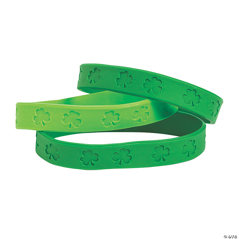 St. Patrick's Day Shamrock Rubber Bracelets Audio Thumbnail