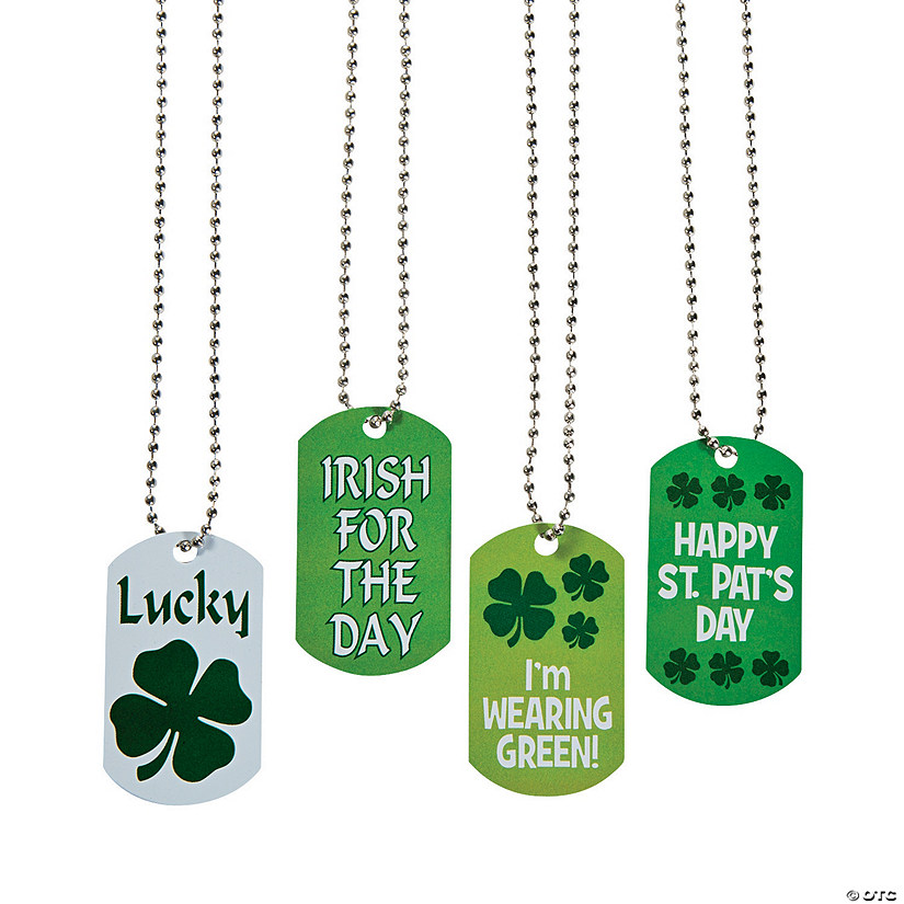 St. Patrick's Day Dog Tag Necklaces Audio Thumbnail