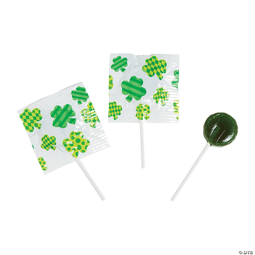 St. Patrick's Day Printed Lollipops