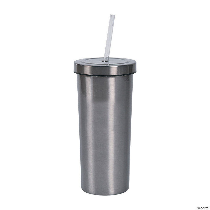 Stainless Steel Tumbler with Straw Audio Thumbnail