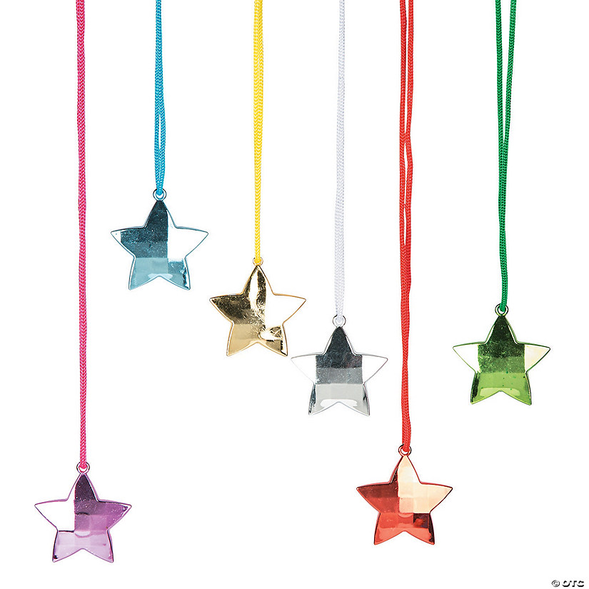 Star Disco Ball Necklaces