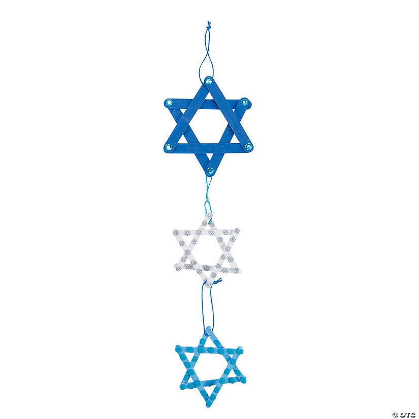 Star of David Craft Stick Mobile Craft Kit Image Thumbnail